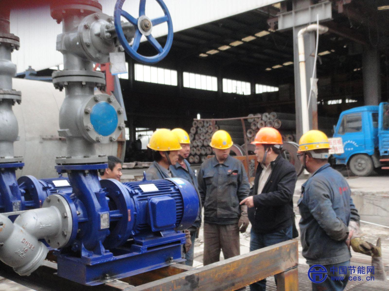 三和管桩锅炉热能系统节能改造项目施工热火朝天